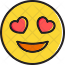 Smiling Face With Heart Shaped Eyes Icon
