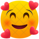 Smiling Face With Hearts Emoji Emotion Icon
