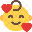 Smiling Hearts Baby Icon