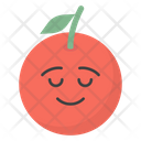 Smiling Orange Icon