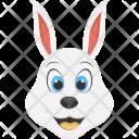 Smiling Rabbit White Icon