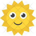 Smiling Sun Welcome Icon