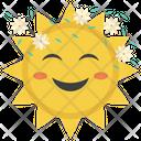 Smiling Sun Sunshine Sun Icon