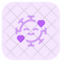 Smiling With Hearts Icon