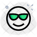 Smiling With Sunglasses Icon