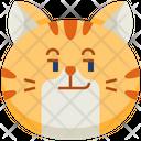 Smirk Emoticon Cat Icon