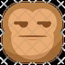 Smirk Monkey Emoji Icon