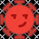 Smirk Coronavirus Emoji Coronavirus Icon