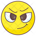 Smirk Emoji Smirk Expression Emotag Icon