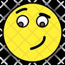 Smirk Emoji Emoticon Emotion Icon