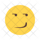 Smirking Emoji Face Icon
