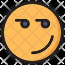 Smirking Emoji Expression Icon