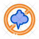Cloud Smog Crossed Icon