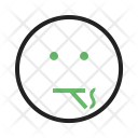 Smoking Emoji Face Icon