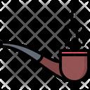 Smoking Pipe Smoke Icon