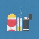Smoking Smoldering Cigarette Icon