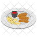 Snack Roll Roll With Ketchup Icon