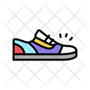 Sneaker Shoes Color Icon
