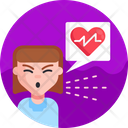 Sneeze Cough Heartbeat Icon
