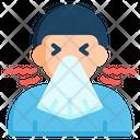 Sneezing Flu Virus Icon