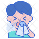 Sneezing Cold Flu Icon