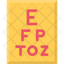 Snellen Chart Eye Test Eye Test Chart Icon