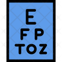Snellen Chart Clinic Icon