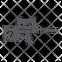 Sniper Rifle Military Icon