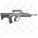 Snipper Riffle Shooting Icon
