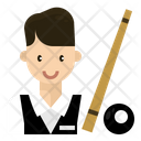 Snooker Player Man Icon