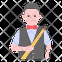 Sports Man Snooker Player Athlete Icon