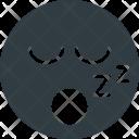 Snoring Emoji Face Icon