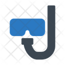 Snorkel Diving Glasses Icon