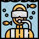 Snorkel Diving Skuba Icon