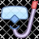 Snorkel Glass Scuba Icon