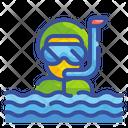 Snorkel Man Icon