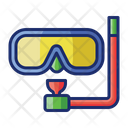 Snorkeling Diving Goggles Icon