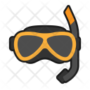 Summer Diving Snorkeling Icon