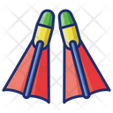 Snorkeling Fins Diving Fins Icon
