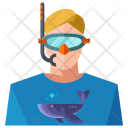 Snorkeling Man Avatar Icon