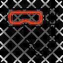 Snorkeling Mask Diving Mask Eyewear Icon
