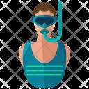 Snorkler Scuba Diver Icon