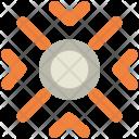 Snow Lines Snowflake Icon
