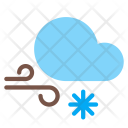 Snow Wind Gust Icon