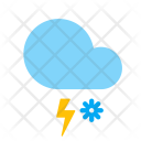 Snow Storm Lightning Icon