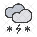 Snow Storm Cloud Icon