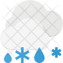 Snow Rain Cloud Icon