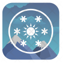 Snow Sun Weather Icon
