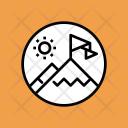 Snow Mountains Scenery Icon