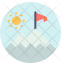 Snow Mountains Scenery Icon